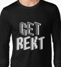 Get Rekt (White) Long Sleeve T-Shirt