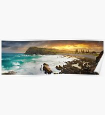 Crescent Head Sunset, New South Wales, Australia Poster
