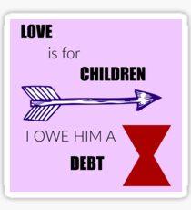 Love Quote Sticker