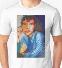 Carmel - Portrait Of A Woman In A Blue Dress Unisex T-Shirt