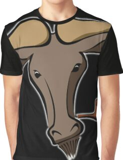 Bull with a Pipe Graphic T-Shirt