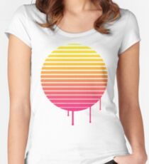 VHS Cassette Vaporwave Women's Fitted Scoop T-Shirt