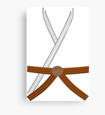 Gi/Dobok with Brown Belt Canvas Print