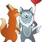 Fox And Wolf <3 by beesants