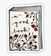 A Good Book Sticker