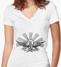 Sun Phoenix  Women's Fitted V-Neck T-Shirt