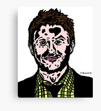 Chris Hardwick Colour/Color Nerdist Fanart Portrait JTownsend Canvas Print