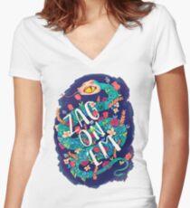 Zag on 'Em!  Women's Fitted V-Neck T-Shirt