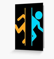 Thinking with Portals Greeting Card