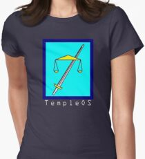 TempleOS Text Logo Women's Fitted T-Shirt
