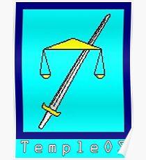 TempleOS Text Logo Poster