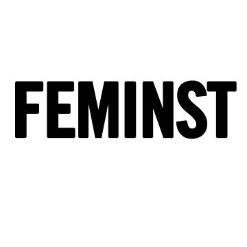 Feminist (Black) T-Shirt iPhone Case by sergiovarela
