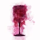 Weinglas-Illustration von Jane Terekhov