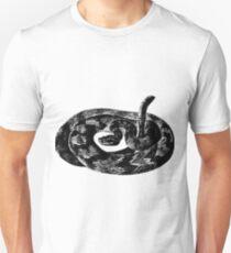 Black and White Snake Unisex T-Shirt