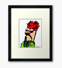 Color Beaker Muppets Fanart by JTownsend Framed Print