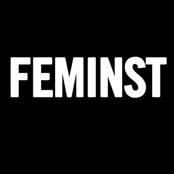 Feminist (White) T-Shirt iPhone Case by sergiovarela