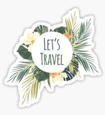 Lets travel Sticker