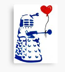 Dalek Love Tee Canvas Print