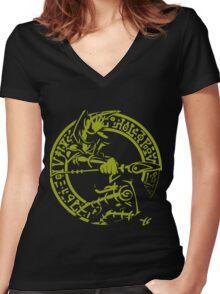 Dark Magician Women's Fitted V-Neck T-Shirt