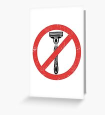 Beard Only - No Shaving Allowed Epic Beards Distressed Design Greeting Card