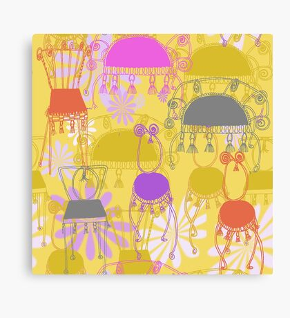 fancy chairs with spirals and tassels Canvas Print
