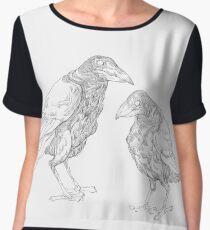 Crows Women's Chiffon Top