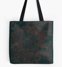 Mexico City Map Red Tote Bag