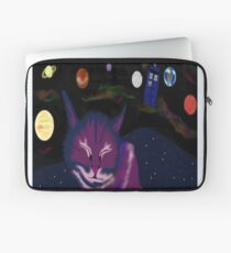 even cats dream of space Laptop Sleeve