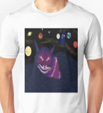 even cats dream of space Unisex T-Shirt