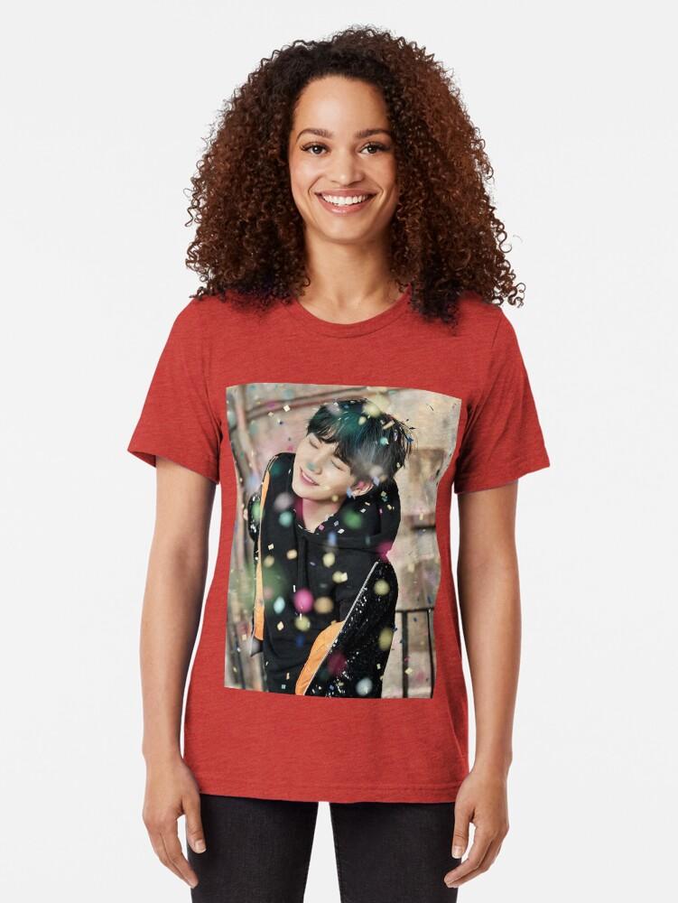 Alternate view of Suga / You Never Walk Alone Tri-blend T-Shirt