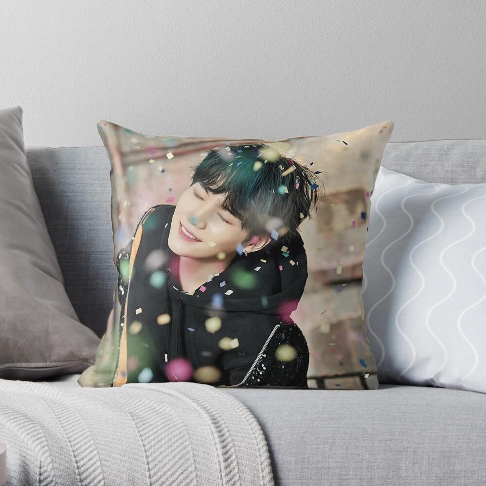 Suga / You Never Walk Alone Throw Pillow