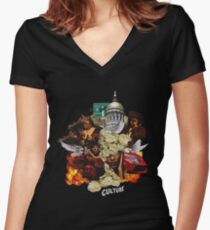 migos -culture Women's Fitted V-Neck T-Shirt