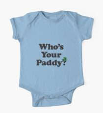 Who's Your Paddy St. Patrick's Day Kids Clothes