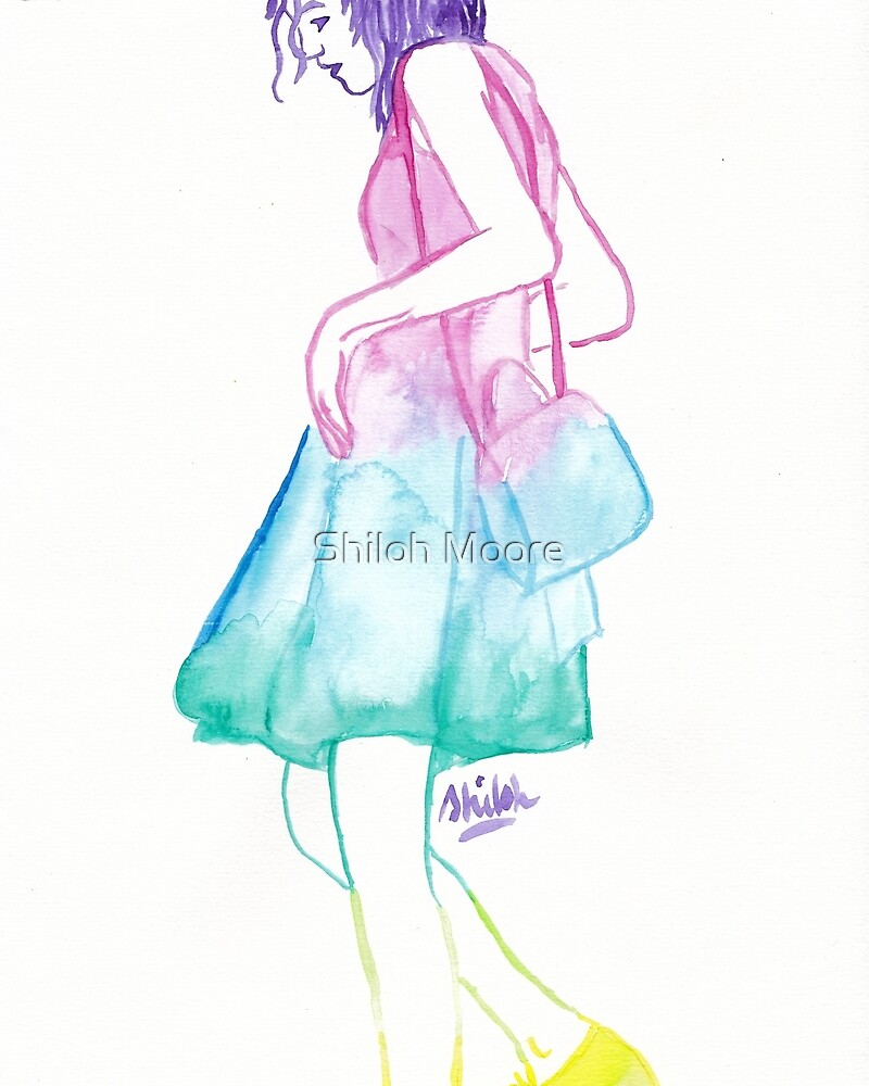 Rainbow Fashion Girl by Shiloh Moore