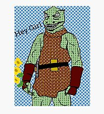 he's green, he's lean.. and he's err kind of an angry, alien reptilian Photographic Print