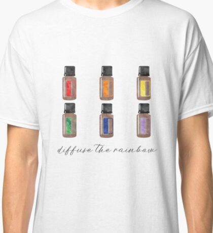 Diffuse the Rainbow - Essential Oils Classic T-Shirt