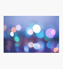 Abstract blurred background with bokeh circles Photographic Print