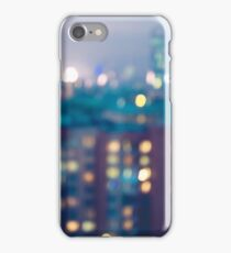 Abstract blurred city lights background iPhone Case/Skin