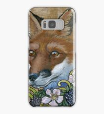 Neotraditional Fox with Blackberries  Samsung Galaxy Case/Skin