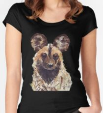 African Wild Dog Women's Fitted Scoop T-Shirt