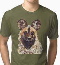 African Wild Dog Tri-blend T-Shirt