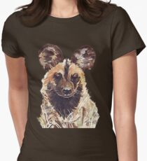 African Wild Dog Women's Fitted T-Shirt