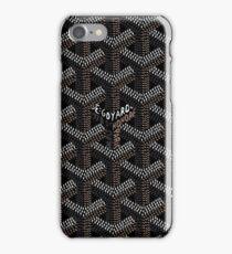 Black Goyard Pattern iPhone Case/Skin