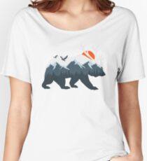 Ice Bear and Deer Women's Relaxed Fit T-Shirt