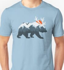 Ice Bear and Deer Unisex T-Shirt