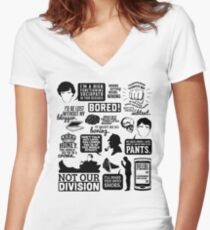 I'd Be Lost Without My Blogger Women's Fitted V-Neck T-Shirt