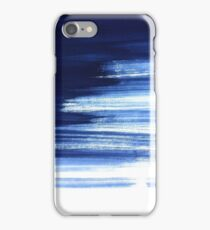 Blue Brush Strokes Abstract  iPhone Case/Skin