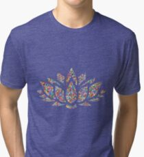 Multicolored Lotus Tri-blend T-Shirt