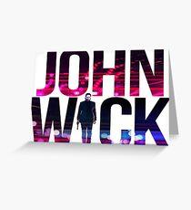 JOHN WICK Greeting Card
