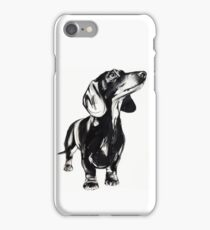 Watercolour dachshund  iPhone Case/Skin